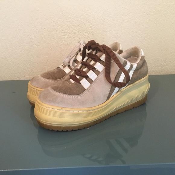 9s Tan Suede Bongo Platform Sneakers